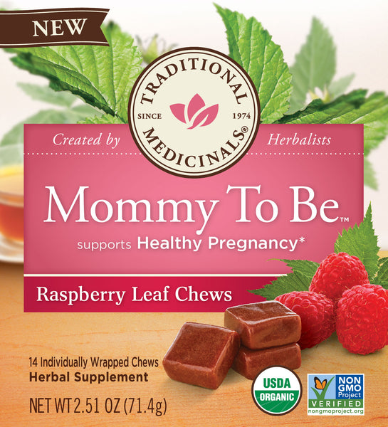Traditional Medicinals Mommy To Be Raspberry Leaf 14 Chews