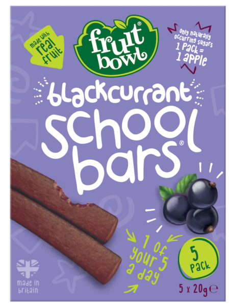 Fruit Bowl School Bars- Blackcurrant, 5 x 20g.
