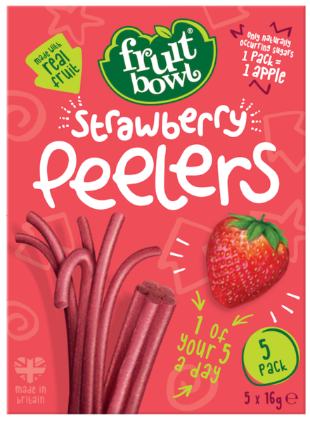 Fruit Bowl Peelers - Strawberry, 5 x 16 g.