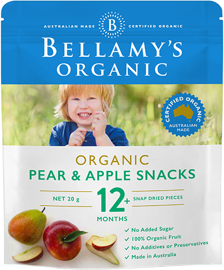 Bellamy's Organic Apple & Pear Snacks, 20g