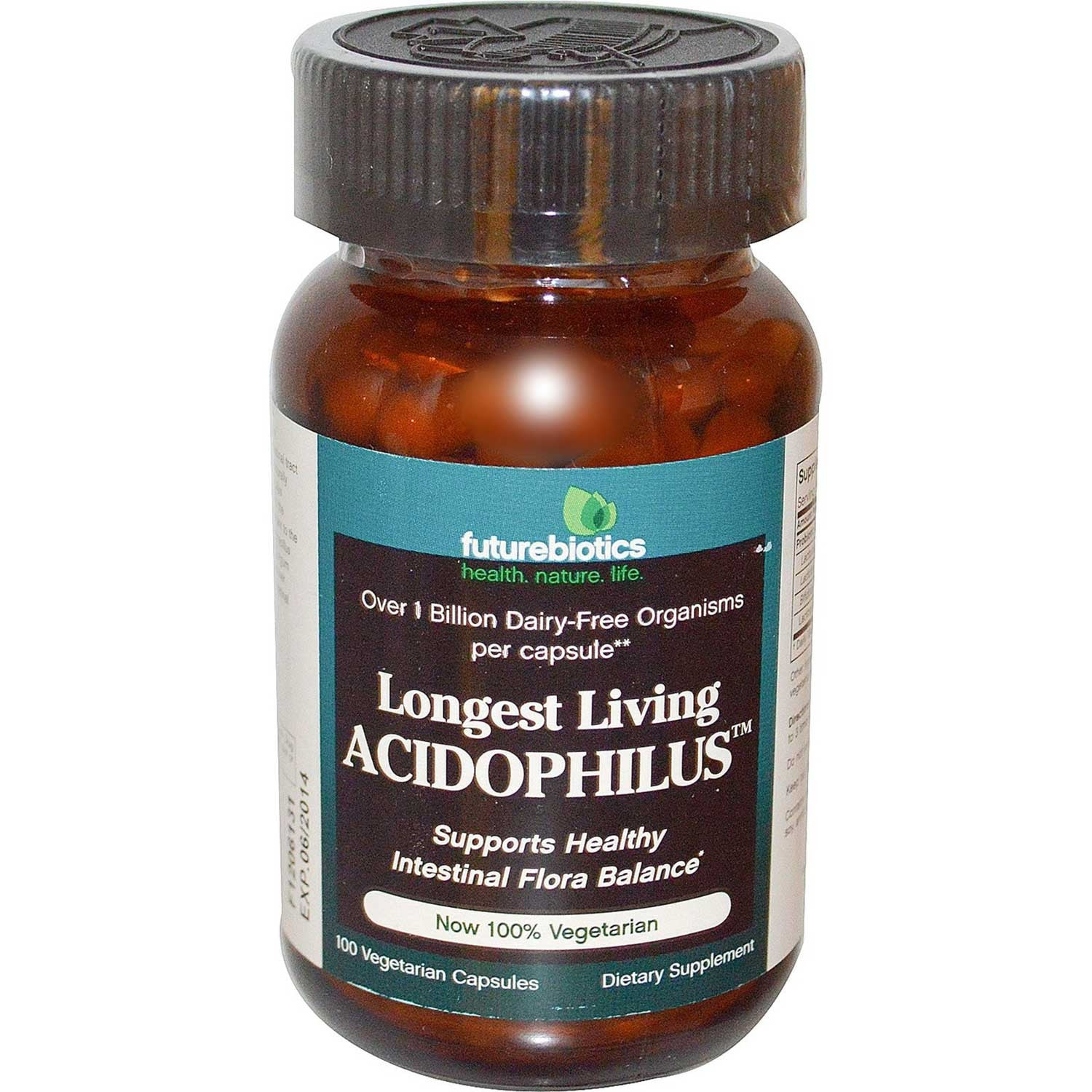 Futurebiotics Longest Living Acidophilus +, 100 caps.-NaturesWisdom