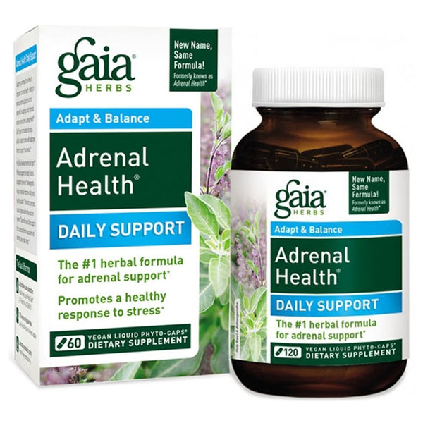 Gaia Herbs Adrenal Health Daily Support Liquid Phyto-Caps, 60 caps.