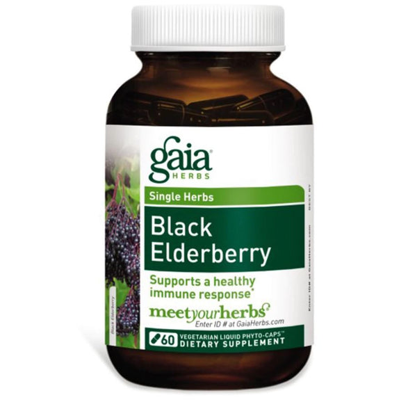 Gaia Herbs Black Elderberry Liquid Phyto-Caps, 60 caps.