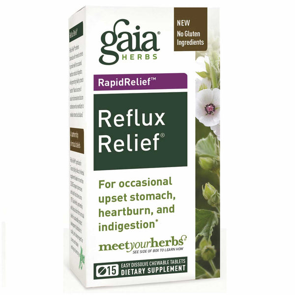 Gaia Herbs Reflux Relief, 15 tabs.