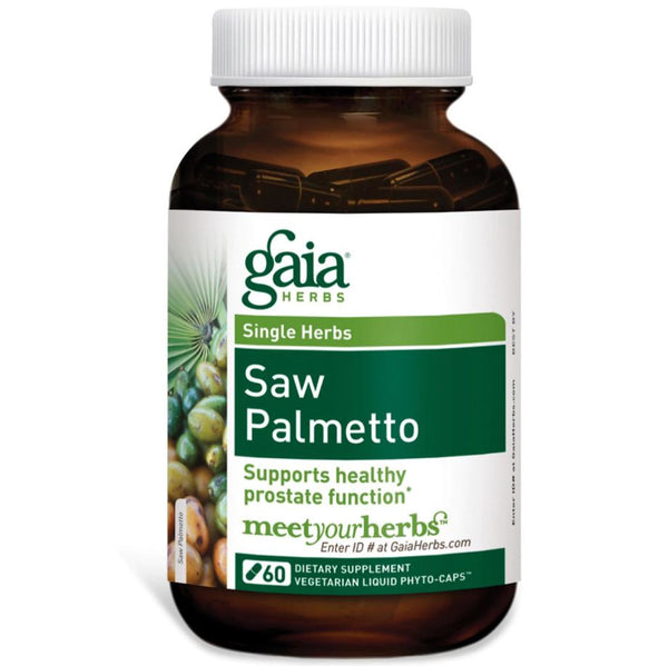 Gaia Herbs Saw Palmetto Liquid Phyto-Caps, 60 caps.
