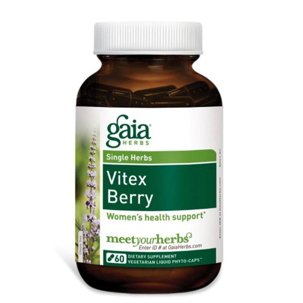 Gaia Herbs Vitex Berry Liquid-Caps, 60 caps.
