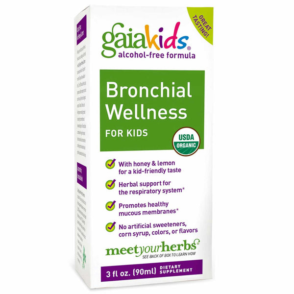 Gaia Kids Bronchial Wellness for Kids, 90 ml.