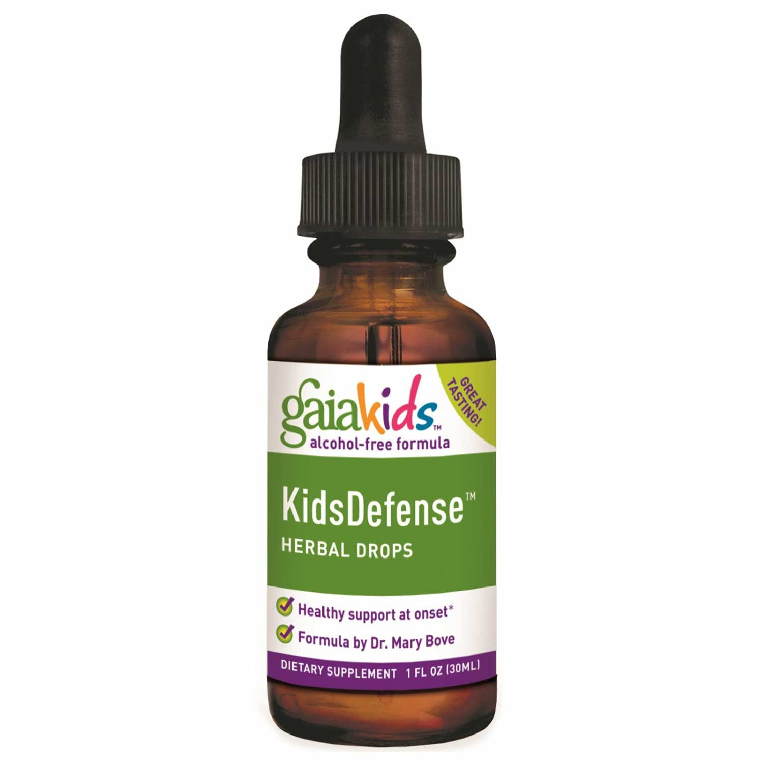 Gaia Kids KidsDefense Herbal Drops, 30 ml.-NaturesWisdom