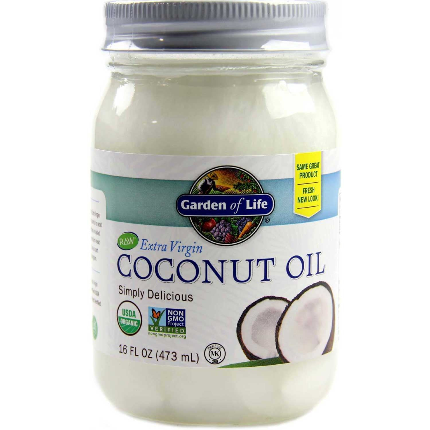 Garden of Life Extra Virgin Coconut Oil (Organic), 473 ml.-NaturesWisdom