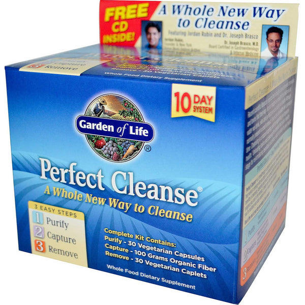 Garden of Life Perfect Cleanse Kit - Purify, Capture, Remove (3 Products).