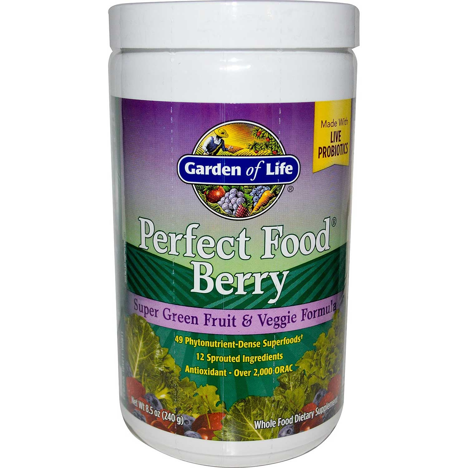 Garden of Life Perfect Food - Berry (Powder), 240 g.-NaturesWisdom