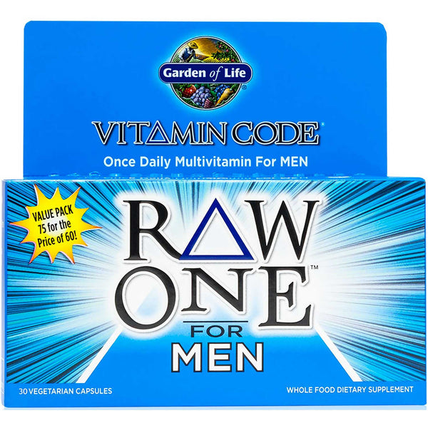 Garden of Life Vitamin Code Raw One For Men, 75 Vcaps.