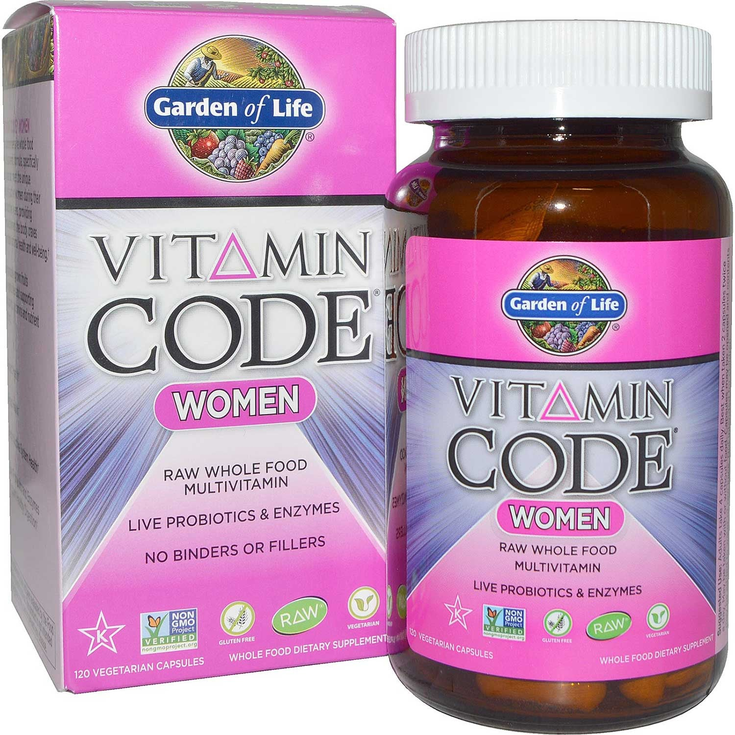 Garden of Life Vitamin Code Raw Women's Multi, 120 Vcaps.-NaturesWisdom