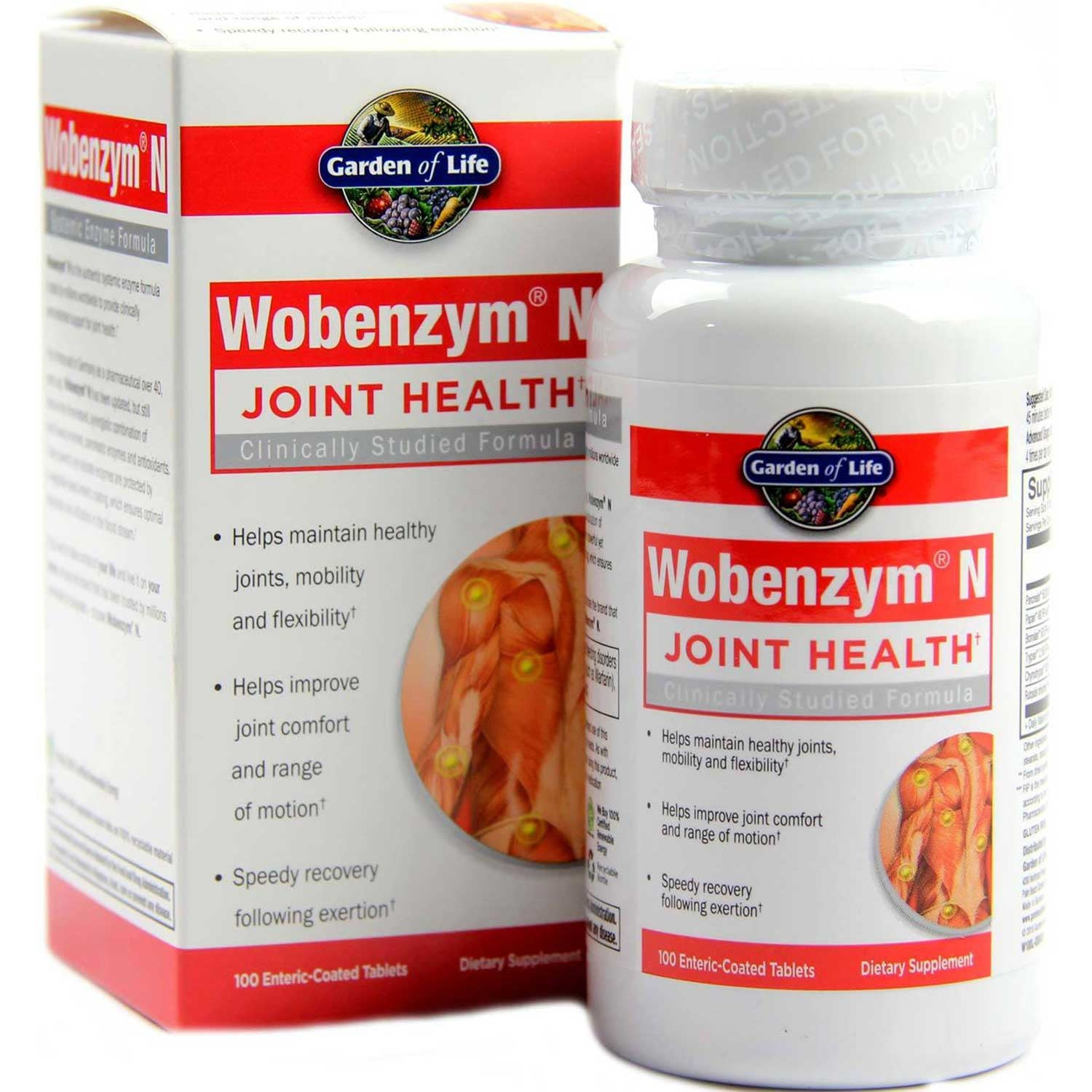Garden of Life Wobenzym N (Enteric-Coated), 200 tabs.