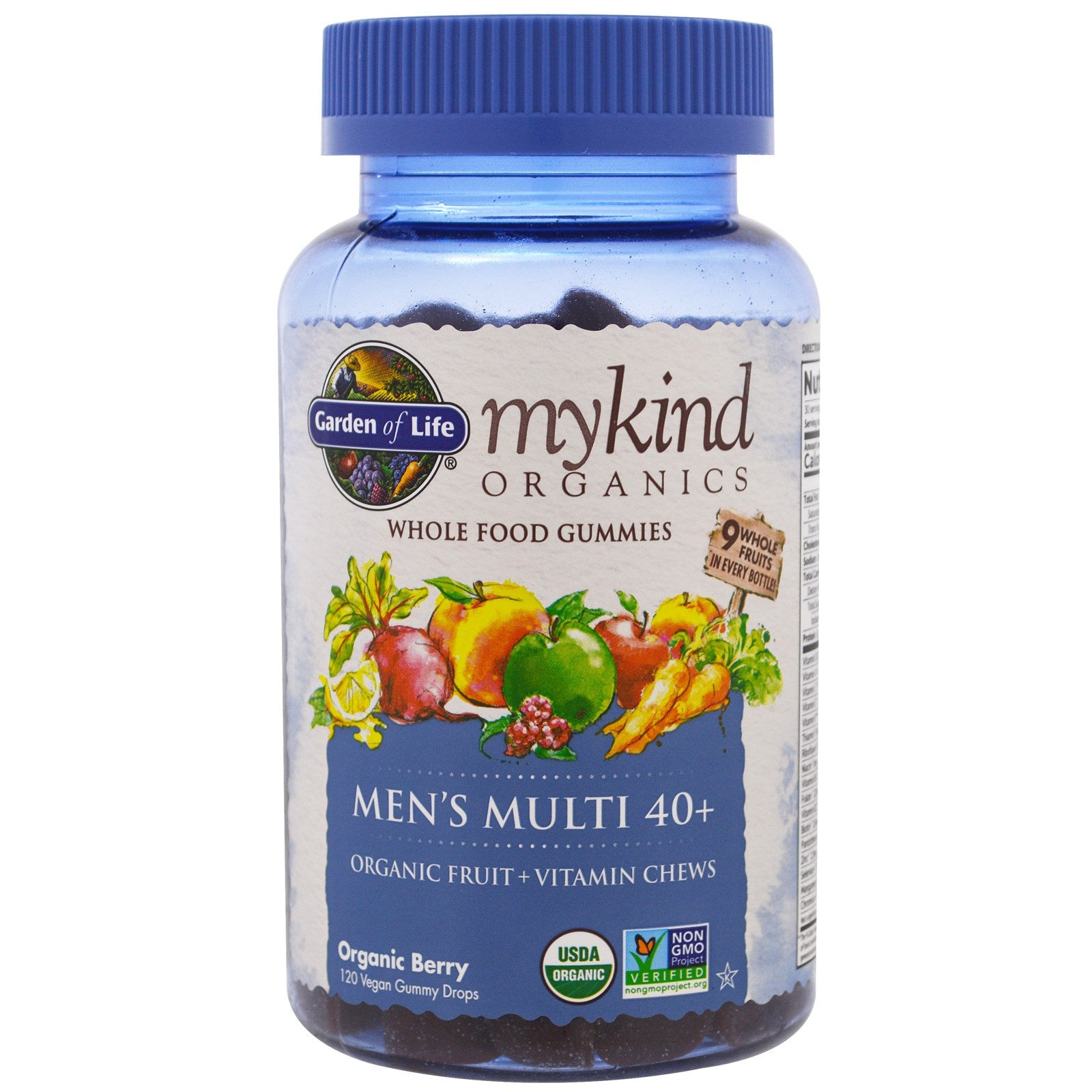 Garden of Life mykind Organics Men's 40 Multi Gummy, 120 gummies.-NaturesWisdom