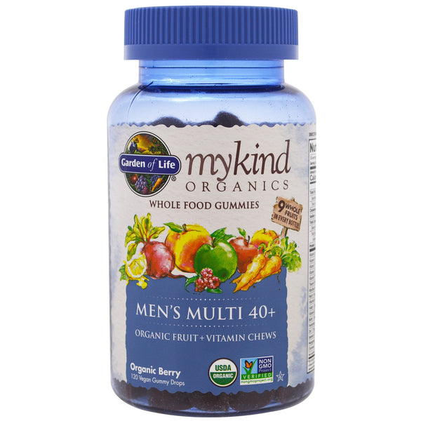 Garden of Life mykind Organics Men's 40 Multi Gummy, 120 gummies.