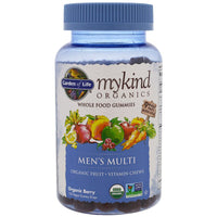 Garden of Life, Mykind Organics, Men's Multi, Organic Berry, 120 Gummy Drops-NaturesWisdom