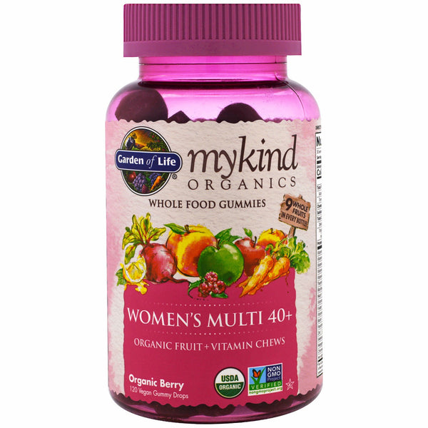Garden of Life mykind Organics Women's 40 Multi Gummy, 120 gummies.