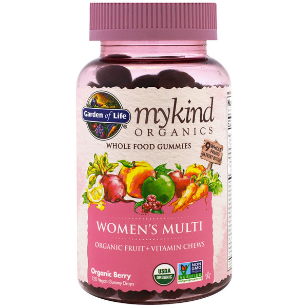 Garden of Life mykind Organics Women's Multi Gummy, 120 gummies.