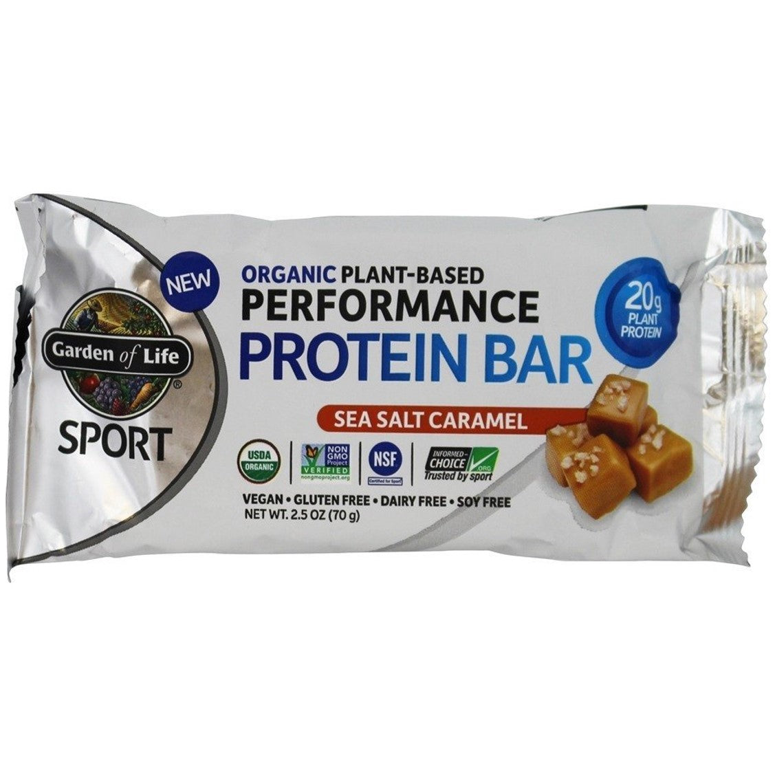 Garden of Life Organic Sport Protein Bar (Sea Salt Caramel), 75 g.-NaturesWisdom