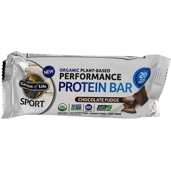 Garden of Life Organic Sport Protein Bar (Choc Fudge), 75g