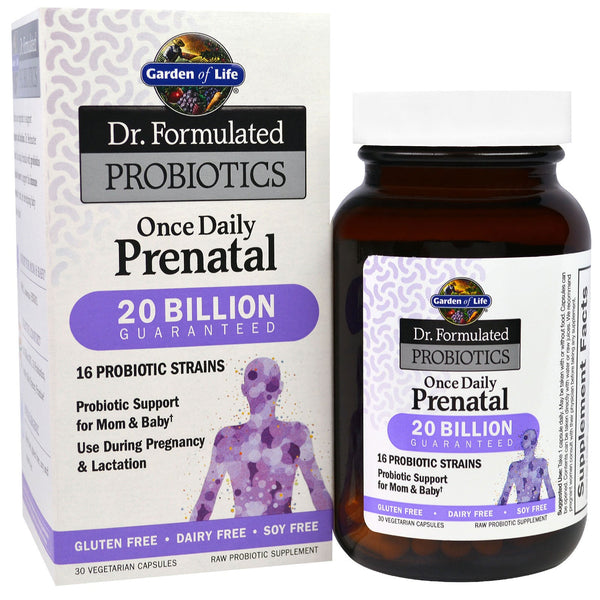 Garden of Life Dr. Formulated PROBIOTICS Once Daily Prenatal, 30 Vcaps.