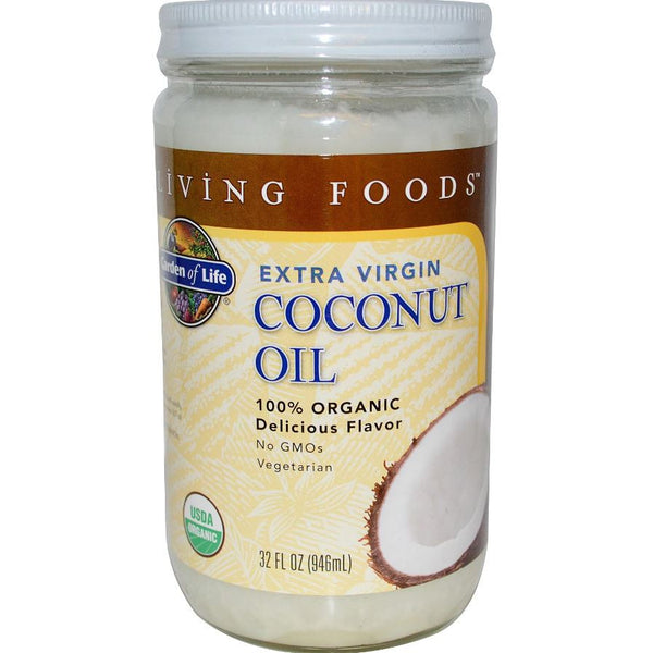 Garden of Life Extra Virgin Coconut Oil (Organic), 946 ml.