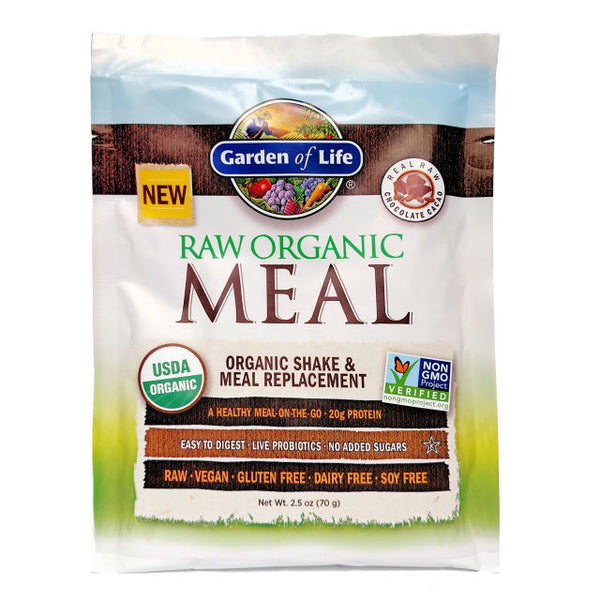 Garden of Life RAW Organic Meal Shake & Meal Replacement Powder Chocolate Cacao,73g.