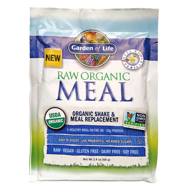 Garden of Life RAW Organic Meal Shake & Meal Replacement Powder Vanilla, 69g.