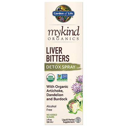 Garden of Life myKind Organics Herbal Liver Bitters Spray, 60ml.