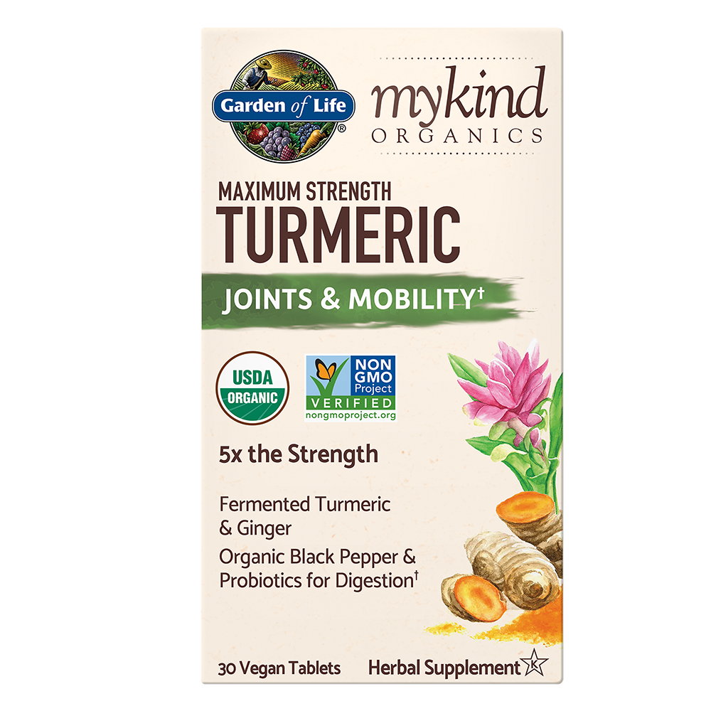 Garden of Life myKind Organics Max Strength Turmeric Joints and Mobility, 30 Tabs-NaturesWisdom