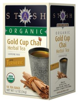 Stash Tea Company Gold Cup Chai Herbal (>95% Organic), 18 bags