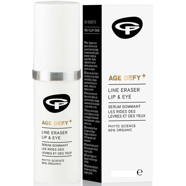 Green People Age Defy + Line Eraser Lip & Eye Serum, 10 ml.