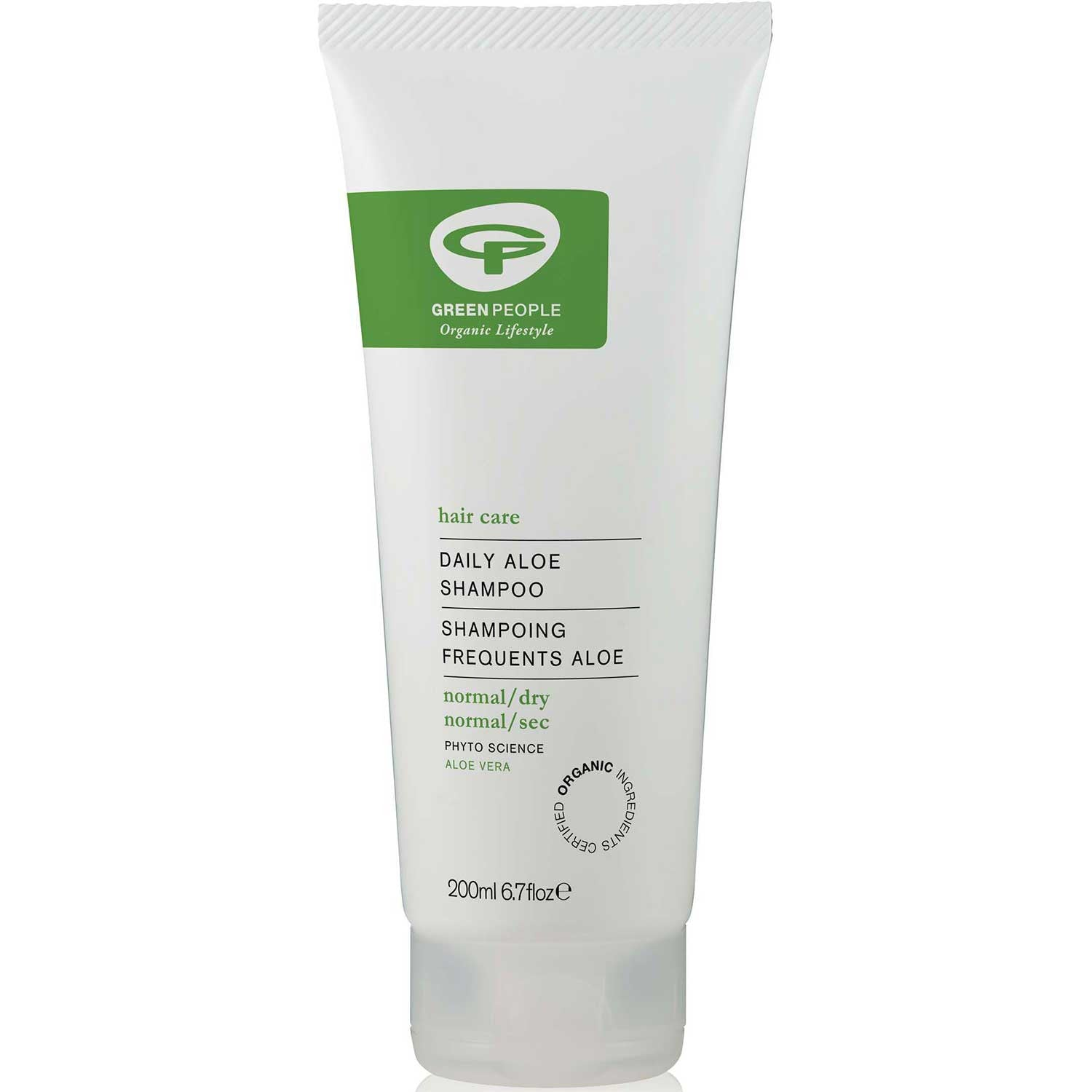 Green People Daily Aloe Shampoo, 200 ml.-NaturesWisdom
