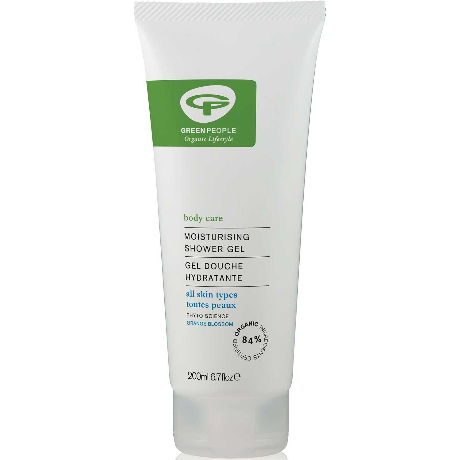 Green People Moisturising Shower Gel, 200 ml.-NaturesWisdom