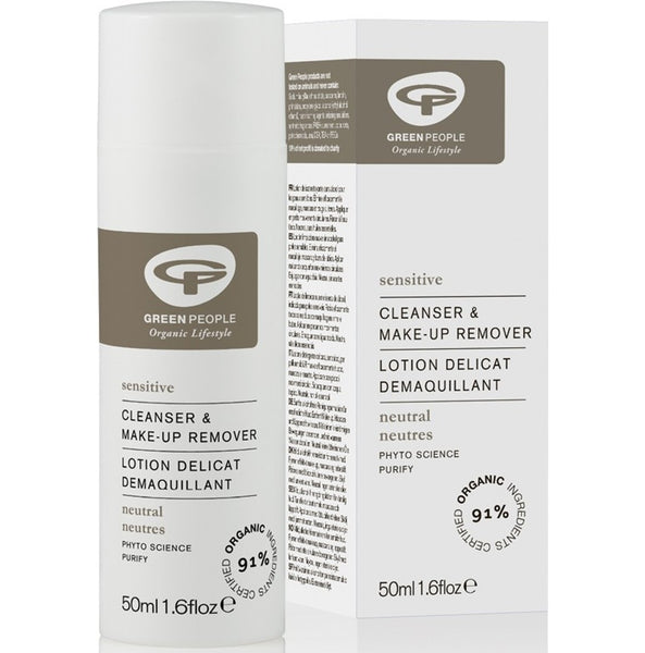 Green People Neutral Scent-free Cleanser & Make-up Remover, 50 ml.