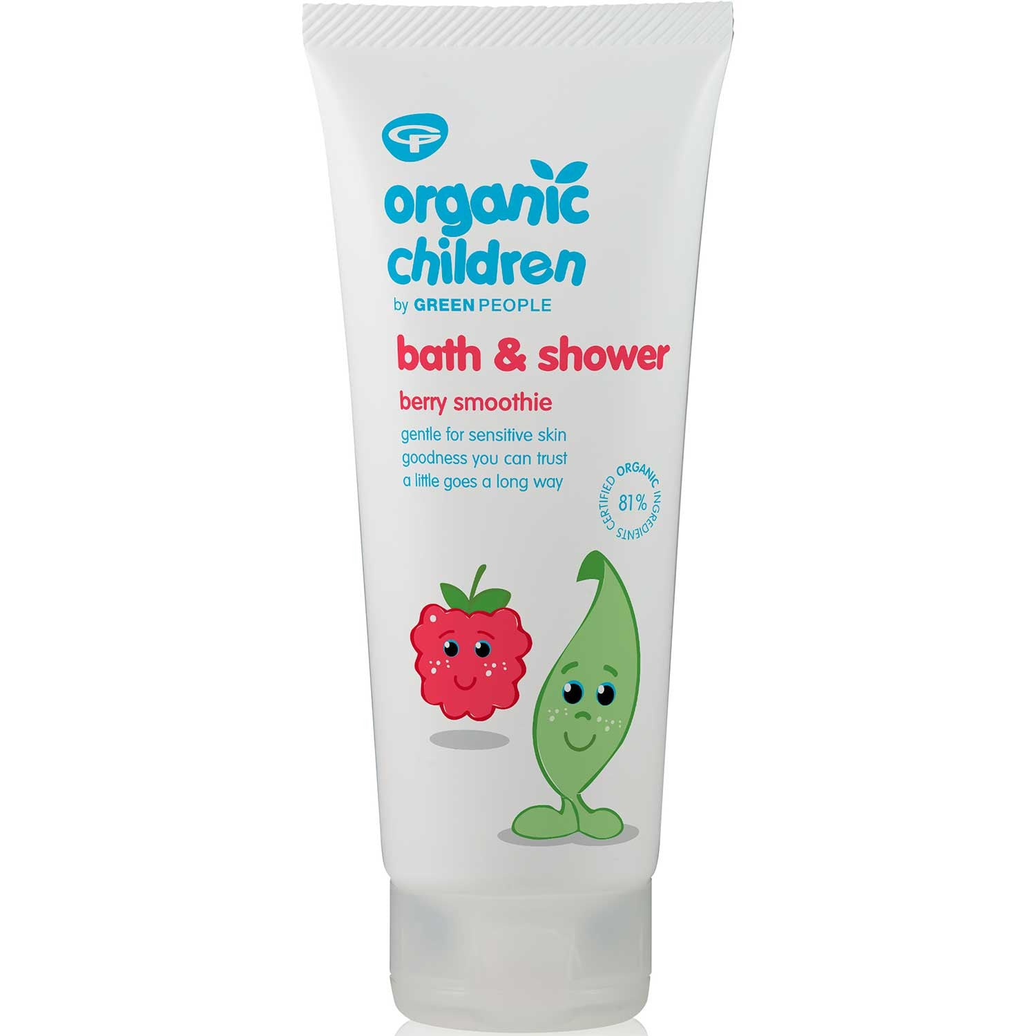 Green People Organic Children Bath & Shower Gel - Berry Smoothie, 200 ml.-NaturesWisdom