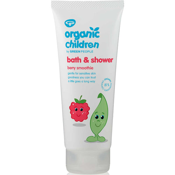 Green People Organic Children Bath & Shower Gel - Berry Smoothie, 200 ml.
