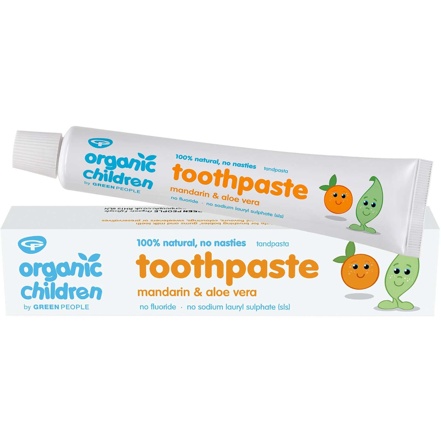 Green People Organic Children Mandarin Toothpaste, 50 ml.-NaturesWisdom