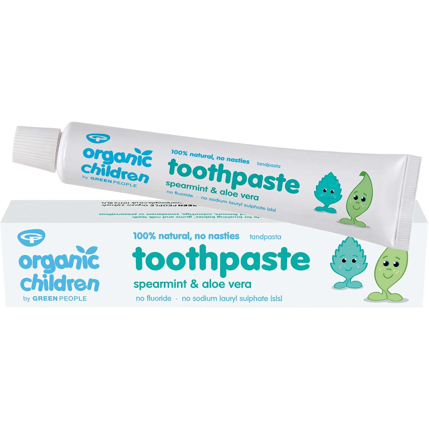 Green People Organic Children Spearmint & Aloe Vera Toothpaste, 50 ml.-NaturesWisdom