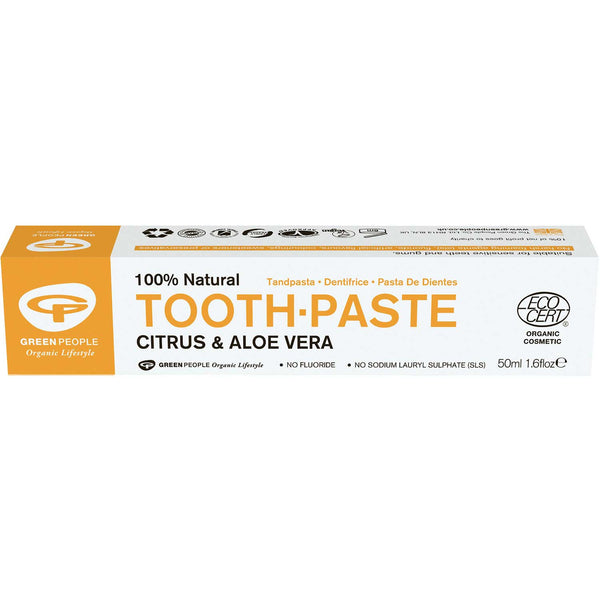 Green People Organic Citrus & Aloe Vera Toothpaste, 50 ml.