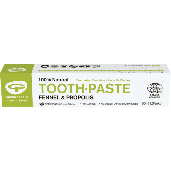 Green People Organic Fennel & Propolis Toothpaste, 50 ml.