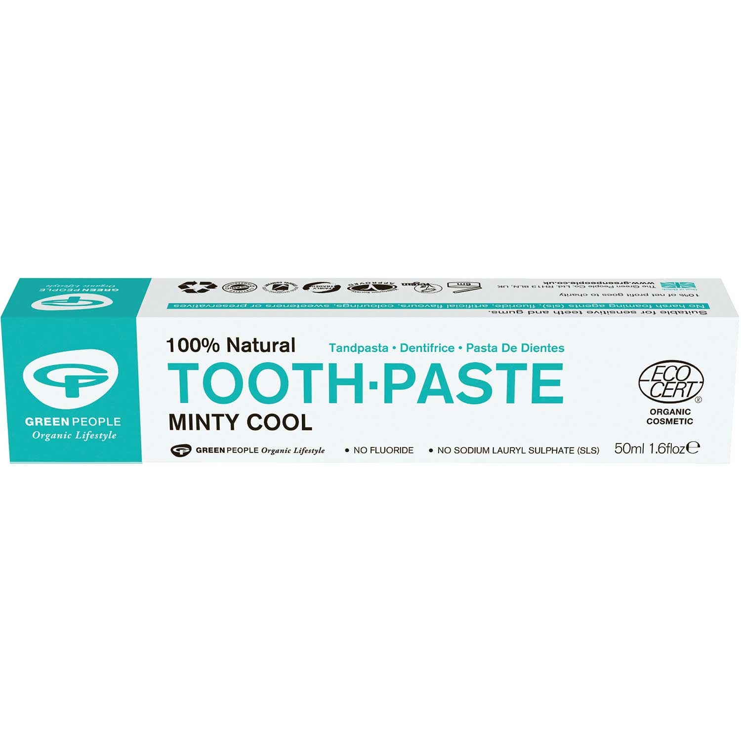Green People Organic Minty Cool Toothpaste, 50 ml.-NaturesWisdom