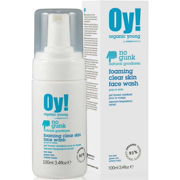 Green People Organic Young Foaming Clear Face Wash, 100 ml.