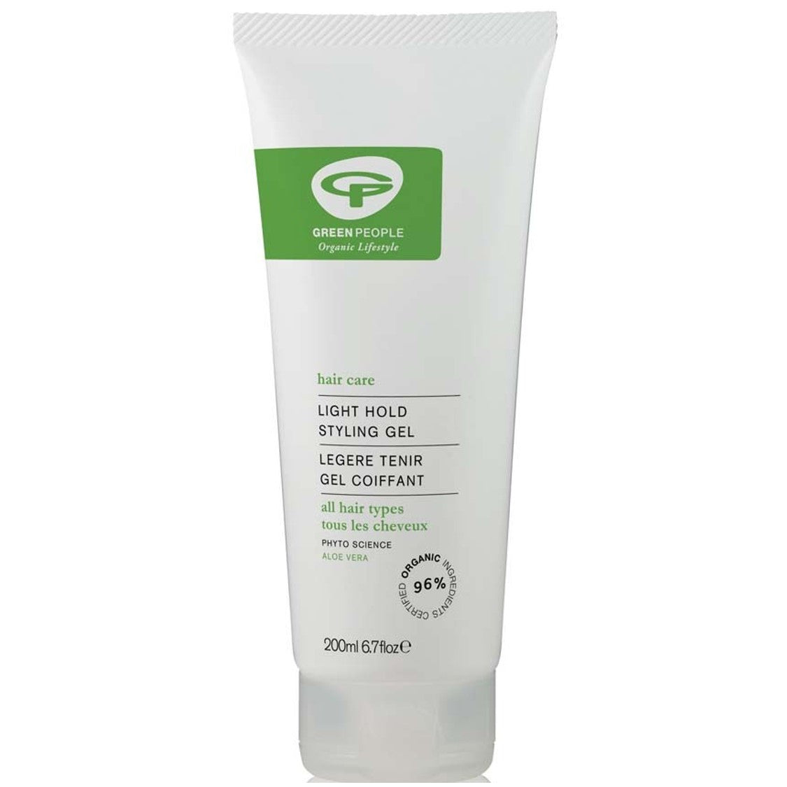 Green People Light Hold Aloe Vera Styling Gel, 200 ml.-NaturesWisdom