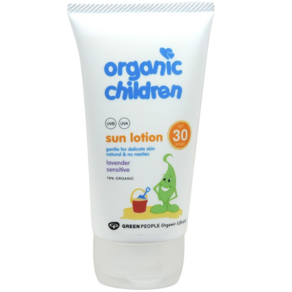 Green People Organic Children Sun Lotion SPF30 - Lavender, 150 ml.