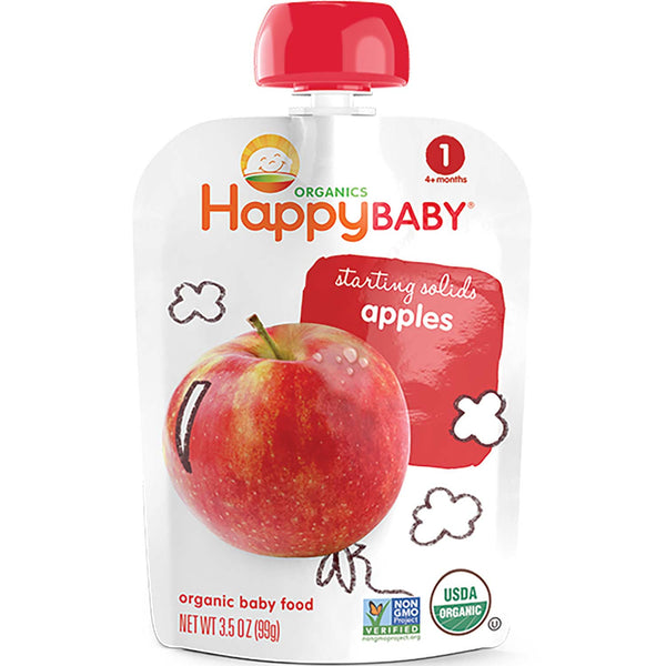 Happy Family Happy Baby Stage 1 Starting Solids - Apple, 99 g.