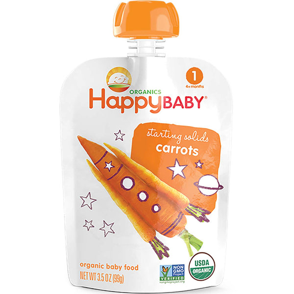 Happy Family Happy Baby Stage 1 Starting Solids - Carrots, 99 g.