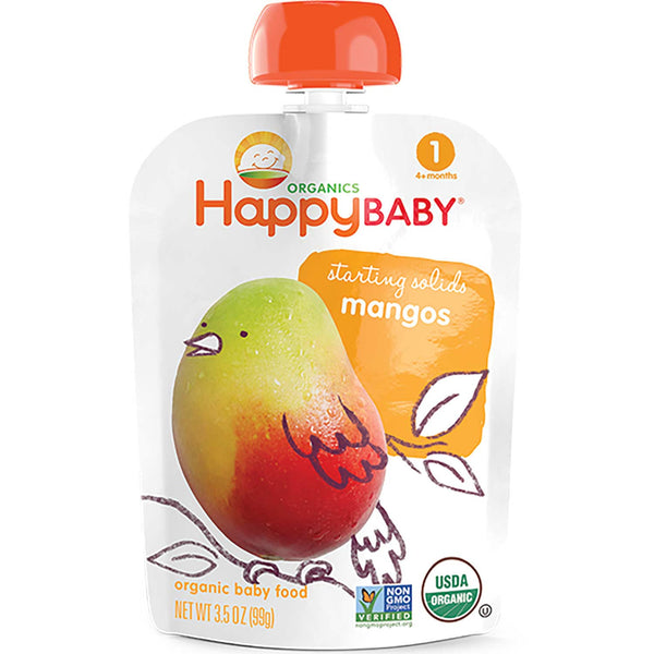 Happy Family Happy Baby Stage 1 Starting Solids - Mango, 99 g.