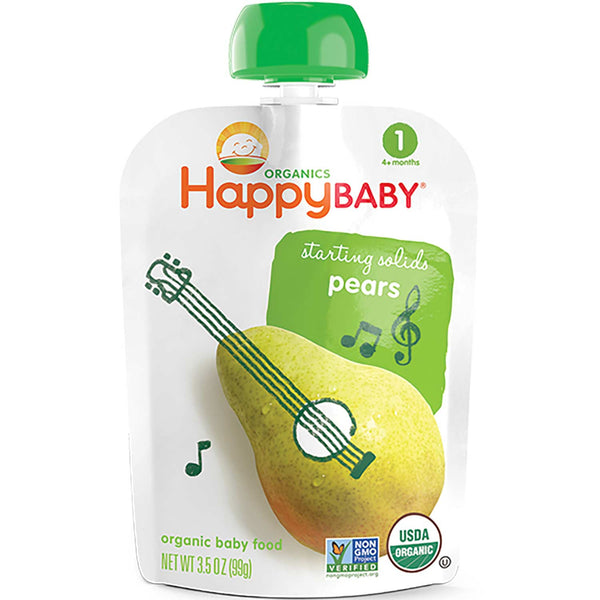 Happy Family Happy Baby Stage 1 Starting Solids - Pear, 99 g.